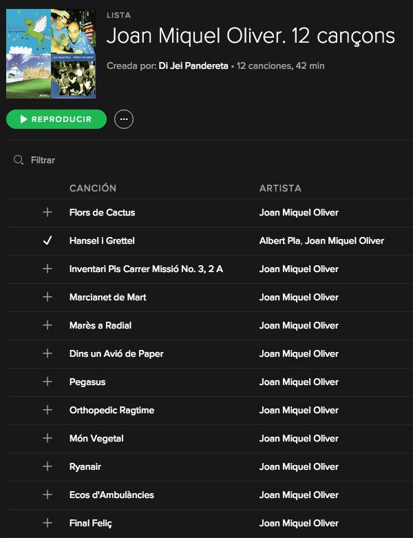 Llista Spotify