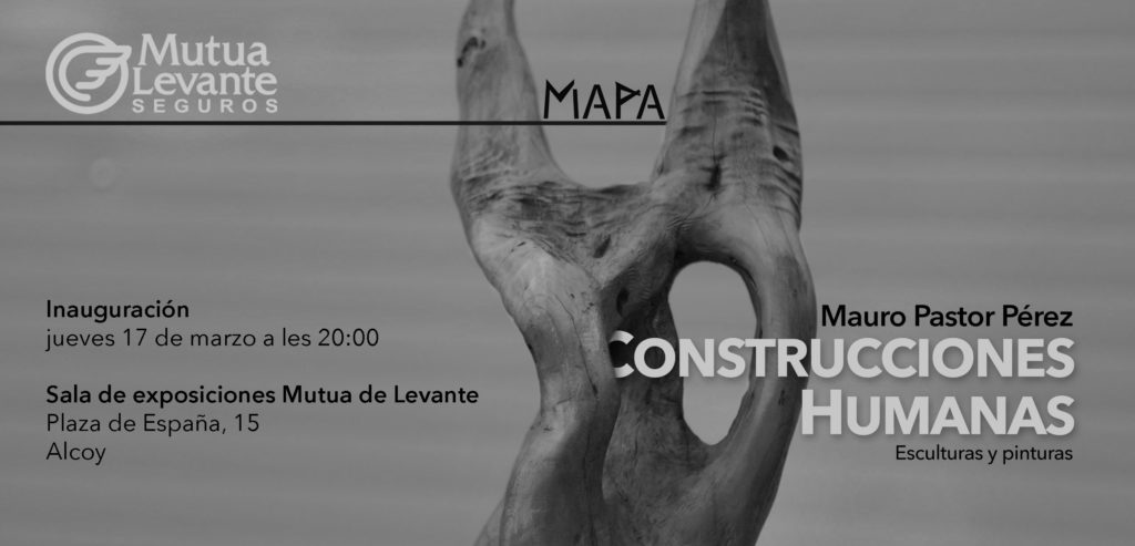 La obra 'Construcciones Humanas' de  Mauro Pastor en la Sala de Exposiciones de Mutua Levante