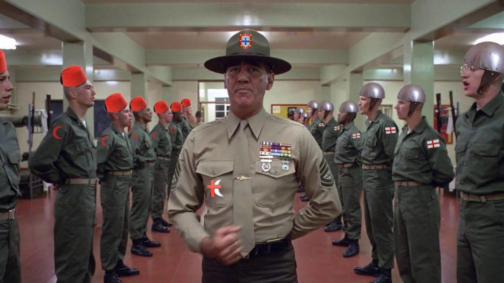 Miles de festeros que disparan en el 'Alardo' además de sacarse la licencia de armas tendrán que hacer un curso de instrucción militar de seis semanas en una compañía de operaciones especiales