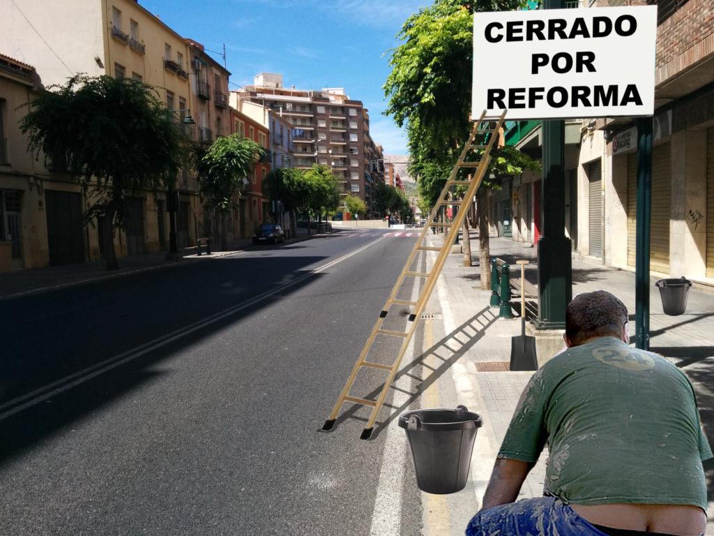 El Ayuntamiento cortará todos los accesos a la ciudad durante los meses de Julio y Agosto y colgará el cartel de 'Cerrado por reformas'