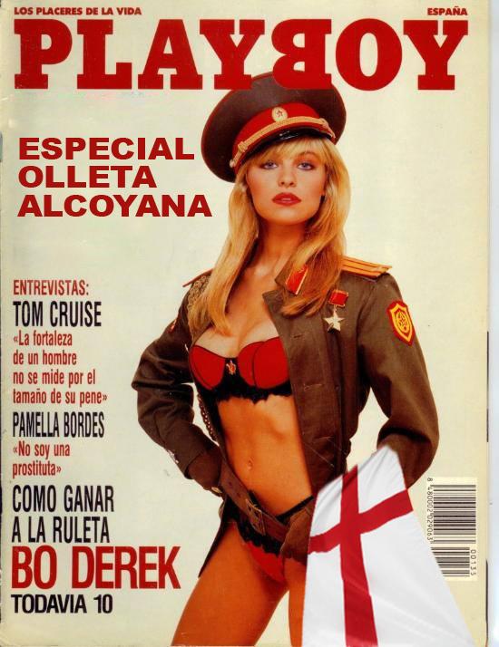 La revista PLAYBOY incluye en su número de Octubre un amplio reportaje dedicado a la olleta alcoyana