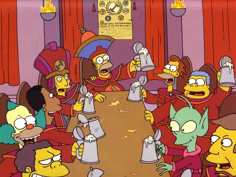 """Los Simpson ya predijeron la """"taula d'escoti""""  de las filaes en su legendario episodio de los Canteros"""