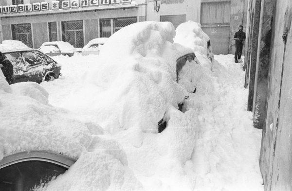 Cuarenta años de una nevada histórica