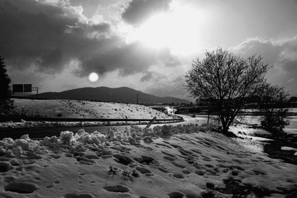 Paisaje de nieve a las puertas de Alcoy