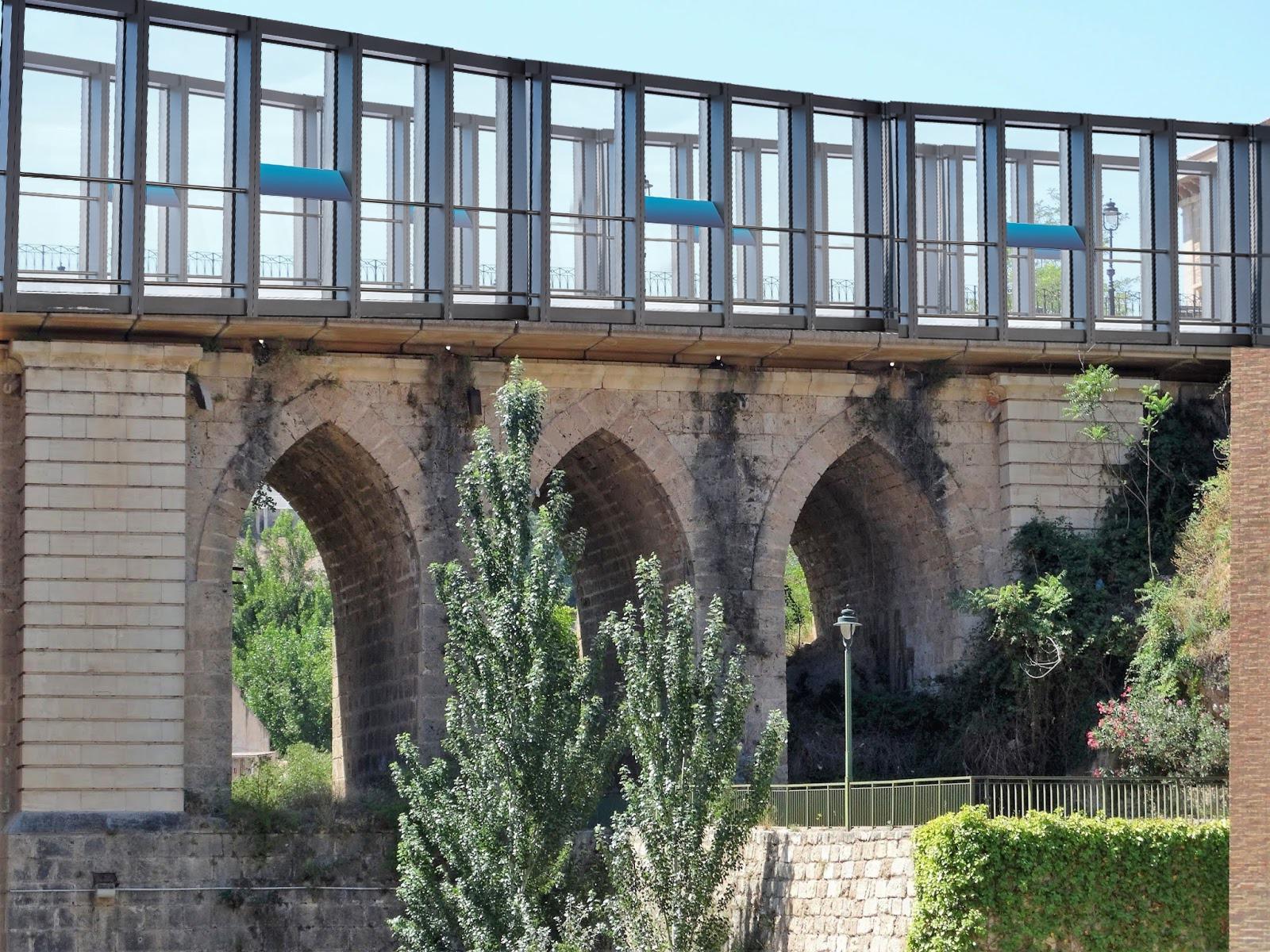 Finalizan las obras de acristalamiento del puente de Cervantes