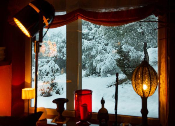 Y la nieve…ahí afuera